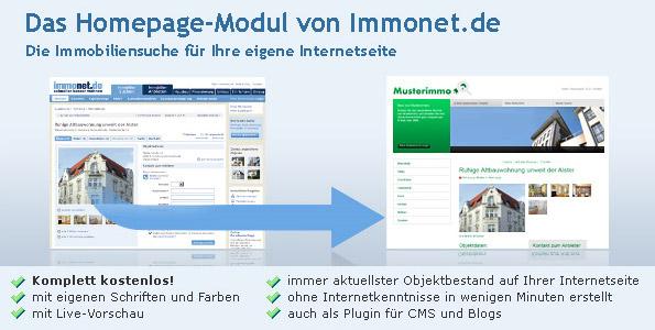 Immonet Homepage-Modul