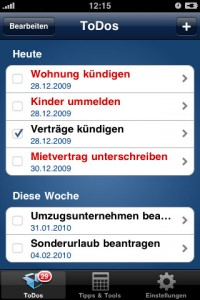 Immoscout Umzug App