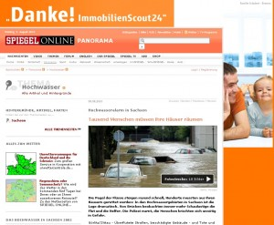 Häuser räumen, Werbung Immoscout 24